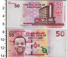 Изображение Боны Свазиленд 50 эмалангени 0  UNC- Король Мсвати III. О