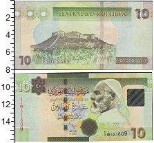 Изображение Боны Ливия 10 динар 1980  UNC Омар Эль Мухтар. Хол