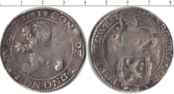 Картинка Монеты Нидерланды 1 даальдер Серебро 1641