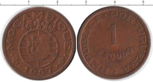 Картинка Монеты Мозамбик 1 эскудо Медь 1957