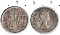 Изображение Монеты Австралия 3 пенса 1959 Серебро XF