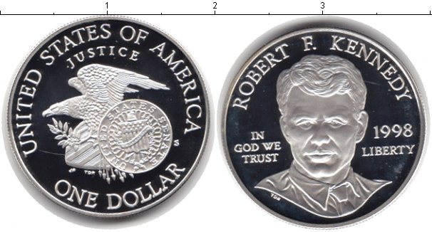 Картинка Монеты США 1 доллар Серебро 1998