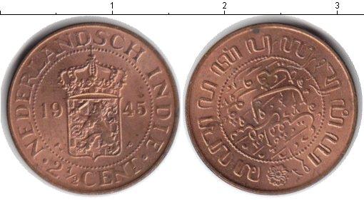 Картинка Монеты Нидерландская Индия 2 1/2 цента  1945