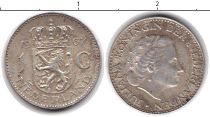 Картинка Монеты Нидерланды 1 гульден Серебро 1967