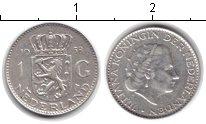 Изображение Монеты Нидерланды 1 гульден 1958 Серебро XF Юлиана