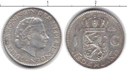 Картинка Монеты Нидерланды 1 гульден Серебро 1963