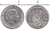 Изображение Монеты Нидерланды 1 гульден 1964 Серебро XF