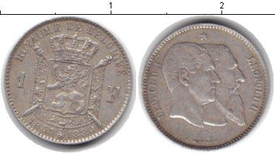 Картинка Монеты Бельгия 2 франка Серебро 1880