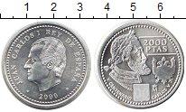 Изображение Монеты Испания 2000 песет 2000 Серебро UNC
