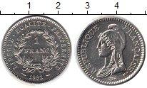 Изображение Монеты Франция 1 франк 1992 Медно-никель UNC-