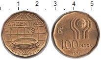 Изображение Монеты Аргентина 100 песо 1978  UNC