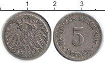 Изображение Монеты Германия 5 пфеннигов 1907 Медно-никель XF