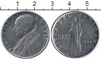 Изображение Монеты Ватикан 100 лир 1955 Медно-никель UNC Пий XII
