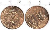 Изображение Монеты Сан-Марино 200 лир 1994  XF