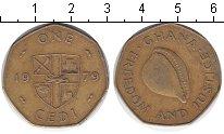 Изображение Монеты Гана 1 седи 1979  VF Ракушка