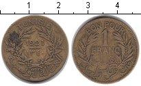 Изображение Монеты Тунис 1 франк 1921  VF