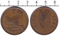 Изображение Монеты Ирландия 1 пенни 1942 Медь XF