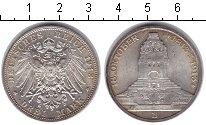 Изображение Монеты Саксония 3 марки 1913 Серебро UNC-