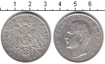 Изображение Монеты Бавария 3 марки 1910 Серебро UNC-