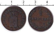 Изображение Монеты Баден 1/2 крейцера 1825 Медь XF