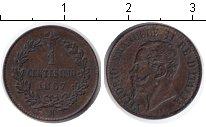 Изображение Монеты Италия 1 сентесимо 1867 Медь XF Витторио Имануил II