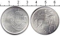 Изображение Монеты Сан-Марино 1000 лир 1981 Серебро UNC-