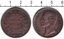 Изображение Монеты Саравак 1 цент 1890 Медь VF Раджа Брооке