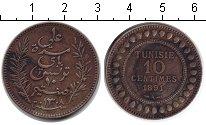 Изображение Монеты Тунис 10 сантимов 1891 Медь XF