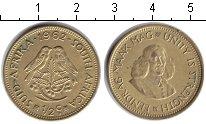 Изображение Монеты ЮАР 1/2 цента 1962  XF Ян ван Рибек
