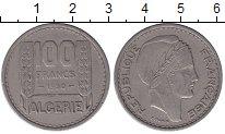 Изображение Мелочь Алжир 100 франков 1950 Медно-никель XF