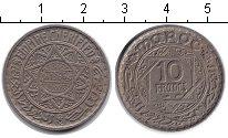 Изображение Монеты Марокко 10 франков 1366 Медно-никель XF