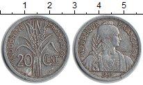 Изображение Монеты Индокитай 20 центов 1945 Алюминий XF