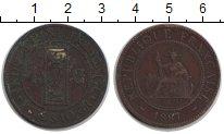 Изображение Монеты Индокитай 1 цент 1887 Медь VF