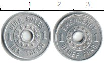 Изображение Монеты США 1 цент 0 Алюминий  Токен. Юта