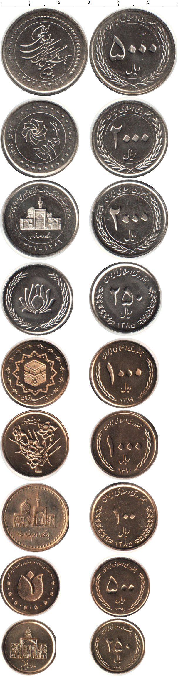 Картинка Наборы монет Иран Иран 1385-1404  0