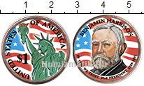Изображение Цветные монеты США 1 доллар 2012  UNC- 23-й президент США.