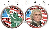 Изображение Цветные монеты США 1 доллар 2007  UNC- 3-й президент США. Т