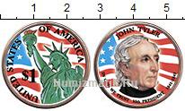 Изображение Цветные монеты США 1 доллар 2009  UNC- 10-й президент США.