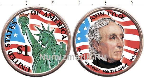 Картинка Цветные монеты США 1 доллар  2009