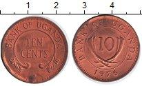 Изображение Мелочь Уганда 10 центов 1976  XF