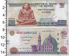 Изображение Банкноты Египет 200 фунтов 2012  UNC-