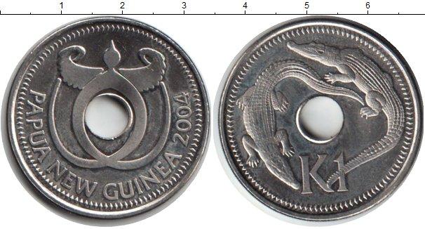 Картинка Монеты Папуа-Новая Гвинея 1 кина Медно-никель 2004