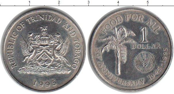 Картинка Монеты Тринидад и Тобаго 1 доллар Медно-никель 1995