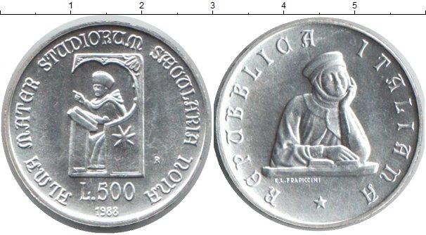 Картинка Монеты Италия 500 лир Серебро 1986