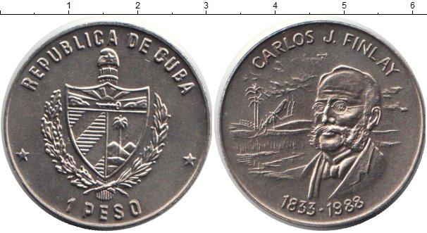 Картинка Монеты Куба 1 песо Медно-никель 1988