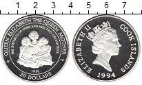 Изображение Монеты Острова Кука 20 долларов 1994 Серебро Proof- Елизавета II. Три де