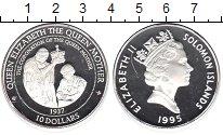 Изображение Монеты Соломоновы острова 10 долларов 1995 Серебро Proof- Елизавета II. Корона