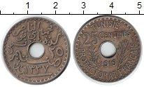 Изображение Монеты Тунис 25 сантимов 1919 Медно-никель XF