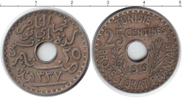 Картинка Монеты Тунис 25 сантимов Медно-никель 1919