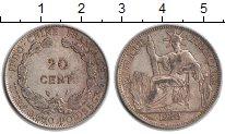 Изображение Монеты Индокитай 20 центов 1930 Серебро VF